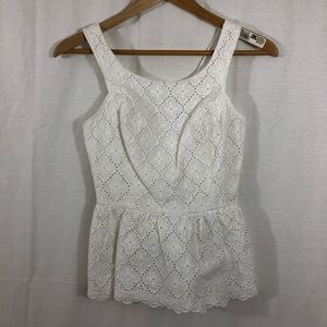 Lilly Pulitzer Tank, Size 00, White